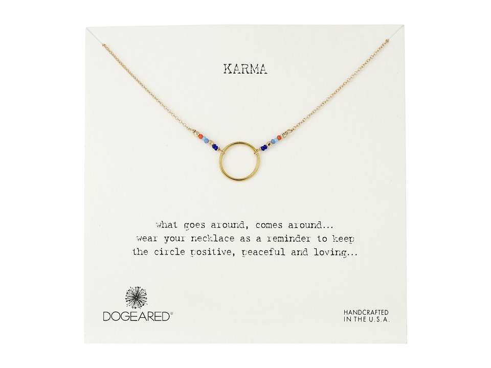 Dogeared - Karma Mixed Seed Bead Necklace (Gold Dipped) Necklace