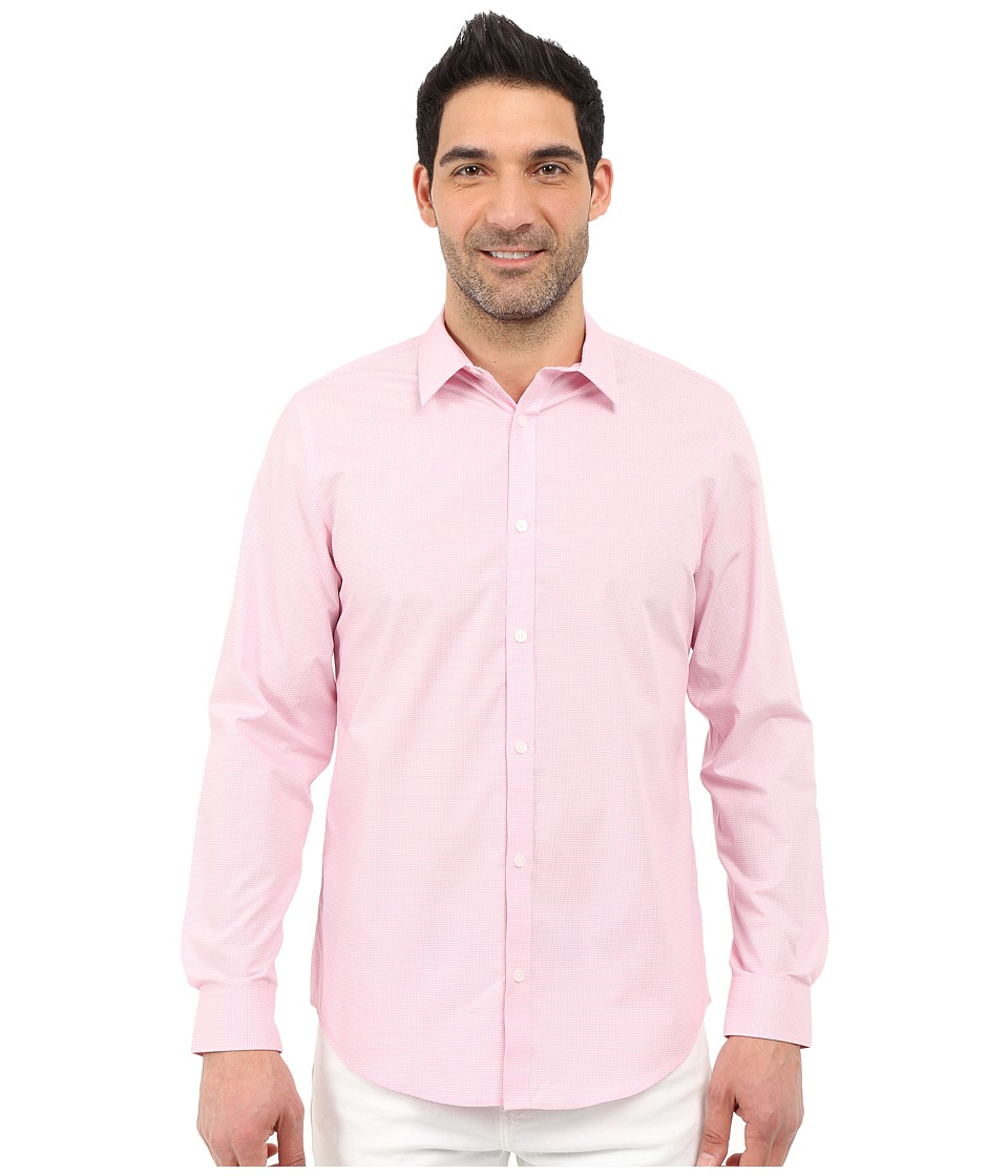 Calvin Klein - Classic Fit Cool Tech Non-Iron Checked Shirt (Cotton Candy) Men's Long Sleeve Button Up