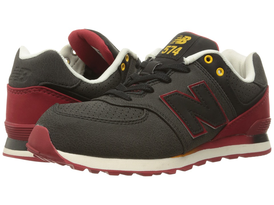 New Balance Kids - 574 (Big Kid) (Black/Red) Boys Shoes