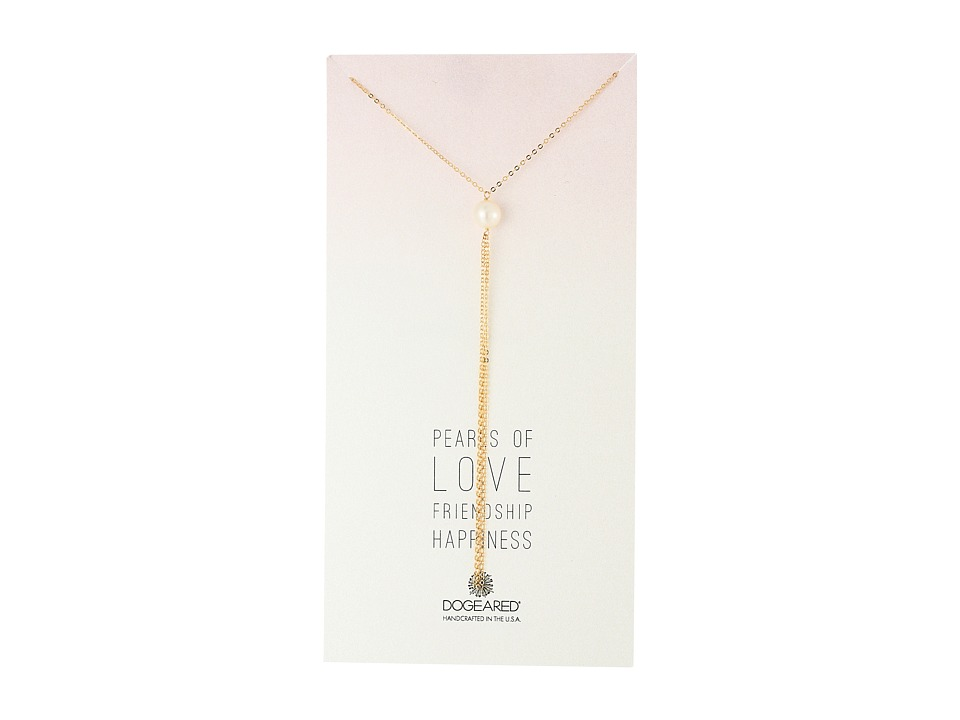 Dogeared - Pearls Of Large Potato Pearl Y Necklace w/Tassel (Gold Dipped) Necklace