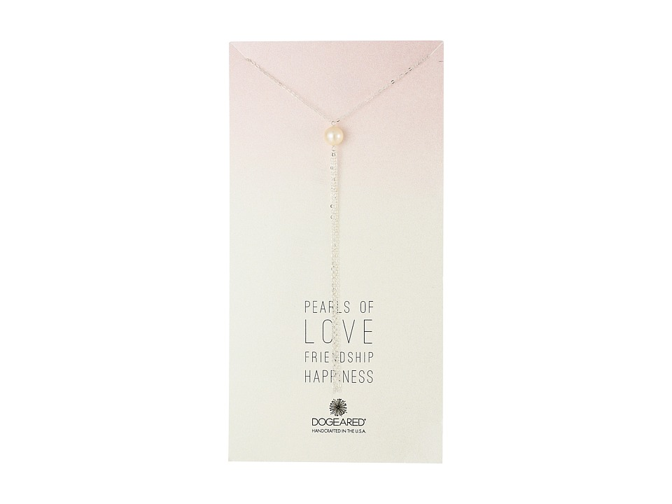 Dogeared - Pearls Of Large Potato Pearl Y Necklace w/Tassel (Sterling Silver) Necklace