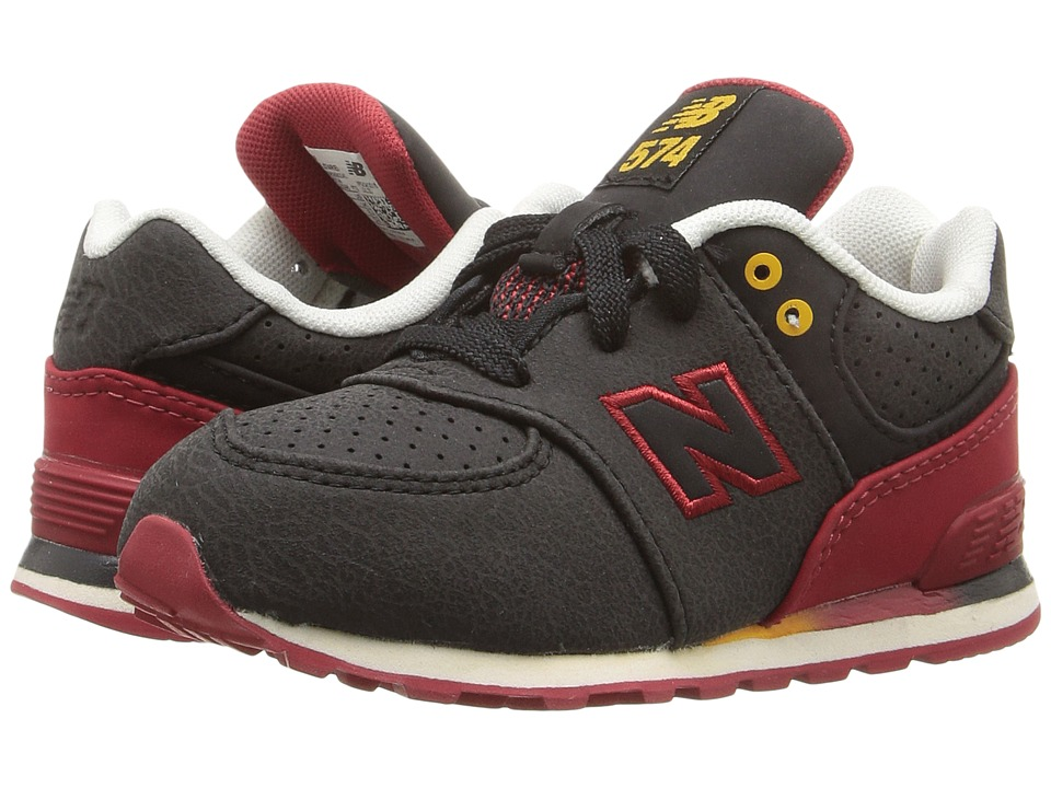 New Balance Kids 574 (Infant/Toddler) (Black/Red) Boys Shoes