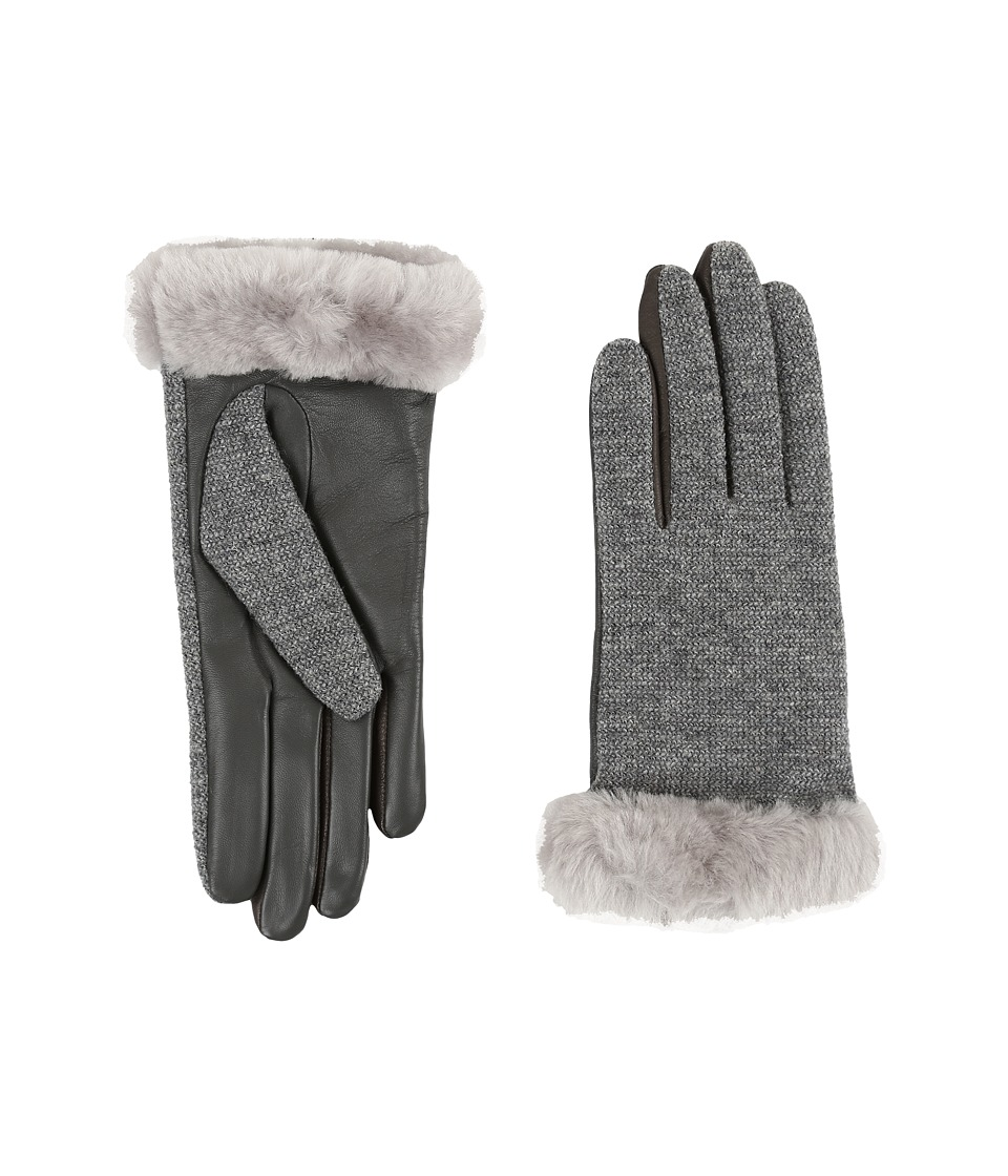 UGG - Shorty Smart Fabric Gloves w/ Short Pile Trim (Seal Multi) Extreme Cold Weather Gloves