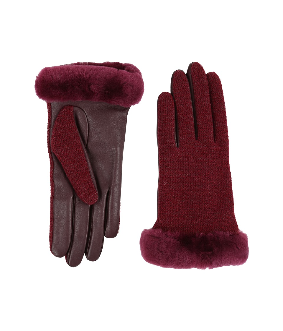 UGG - Shorty Smart Fabric Gloves w/ Short Pile Trim (Lonely Hearts Multi) Extreme Cold Weather Gloves