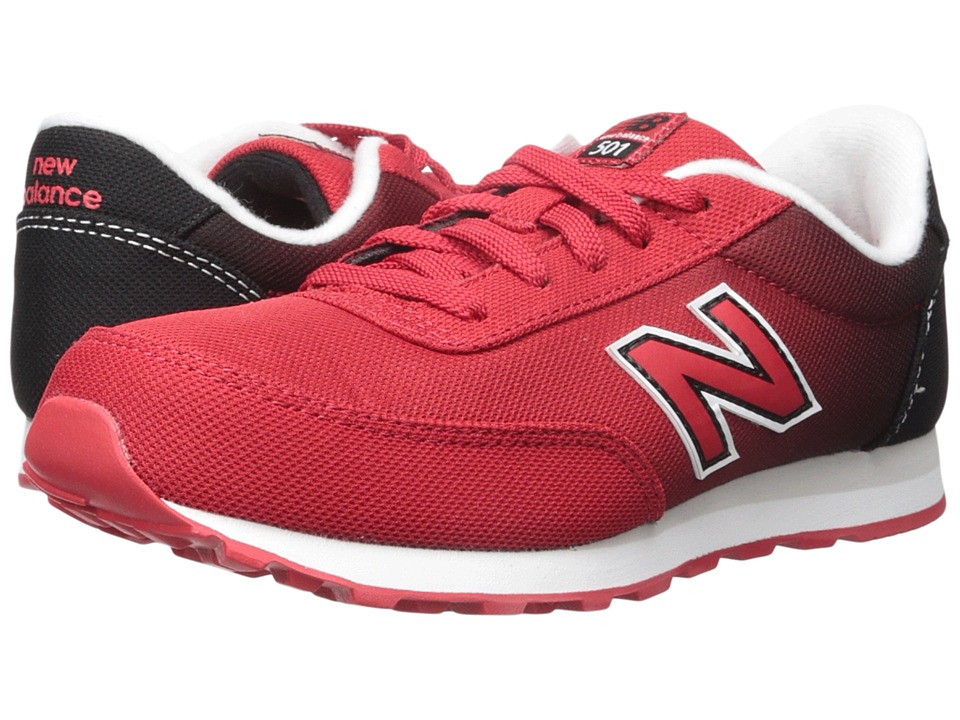 New Balance Kids - 501 (Little Kid/Big Kid) (Red/Black) Boys Shoes