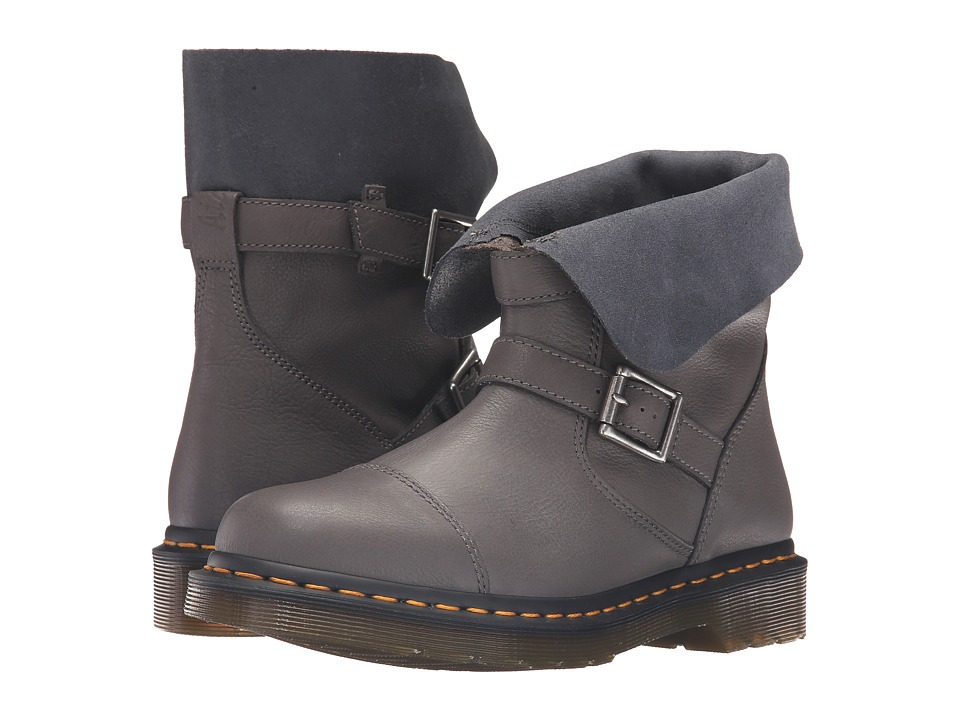 Dr. Martens - Kristy Slouch Rigger Boot (Lead Virginia) Women's Pull-on Boots