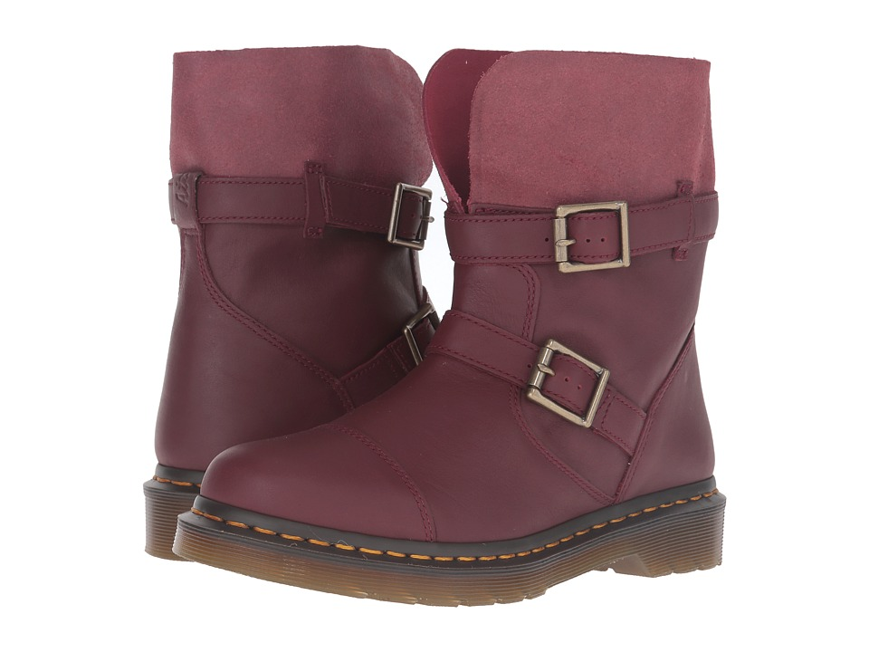Dr. Martens - Kristy Slouch Rigger Boot (Cherry Red Virginia) Women's Pull-on Boots