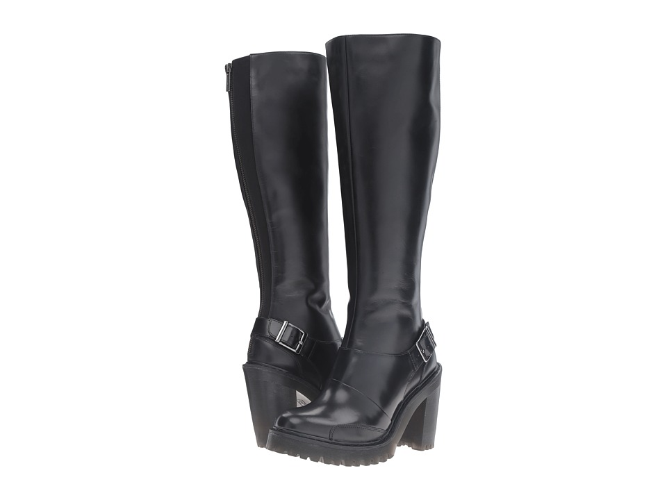 Dr. Martens - Lyanna Knee High Boot (Black Polished Buttero) Women's Zip Boots
