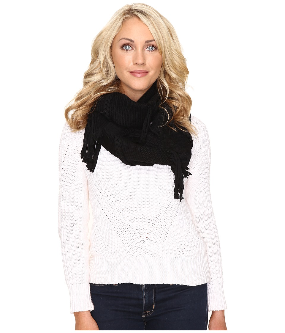 UGG - Cable Fringe Scarf (Black) Scarves