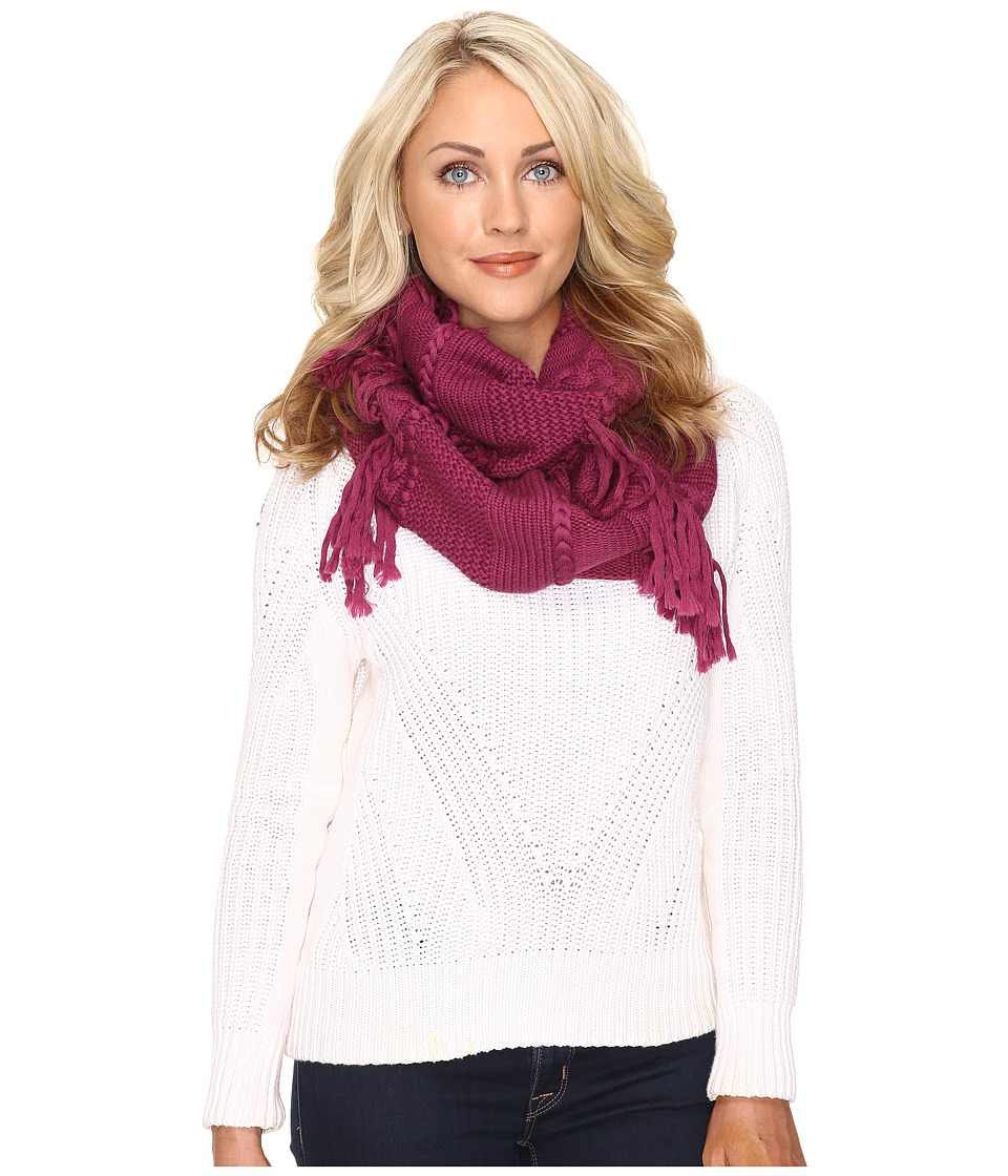 UGG - Cable Fringe Scarf (Bougainvillea) Scarves