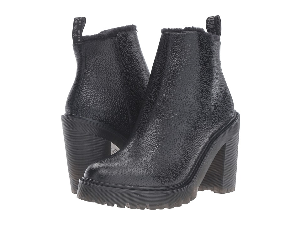 Dr. Martens - Magdalena FL Ankle Zip Boot (Black Stone) Women's Boots