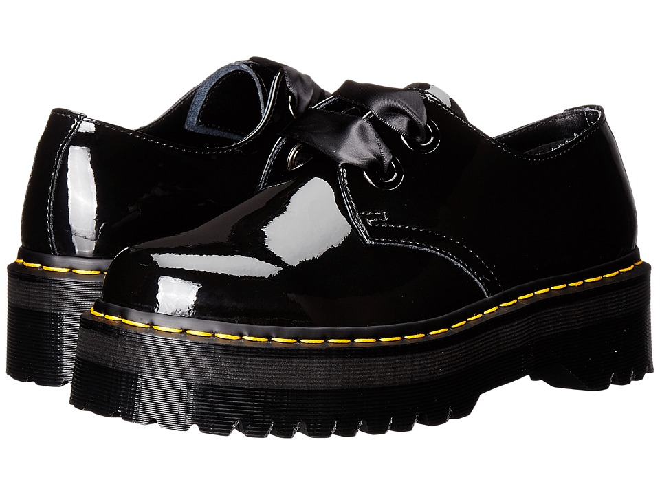 Dr. Martens - Holly Lolita Shoe (Black Patent Lamper) Women's Lace up casual Shoes
