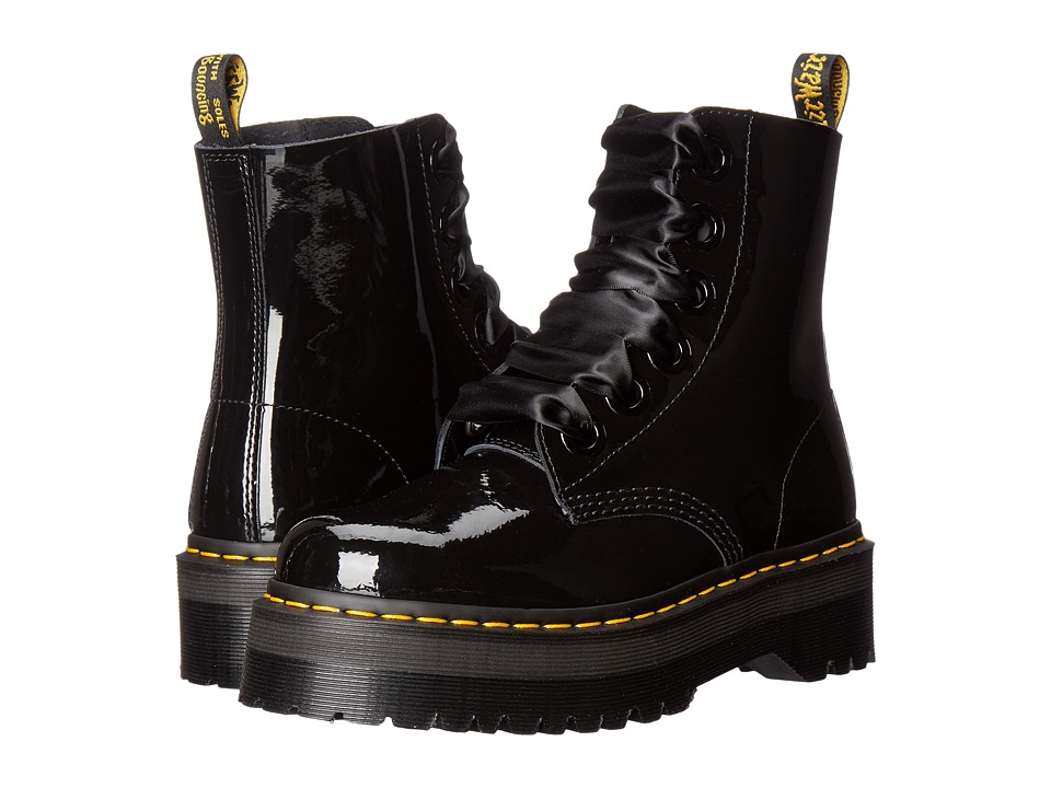 Dr. Martens - Molly Lolita Boot (Black Patent Lamper) Women's Lace-up Boots