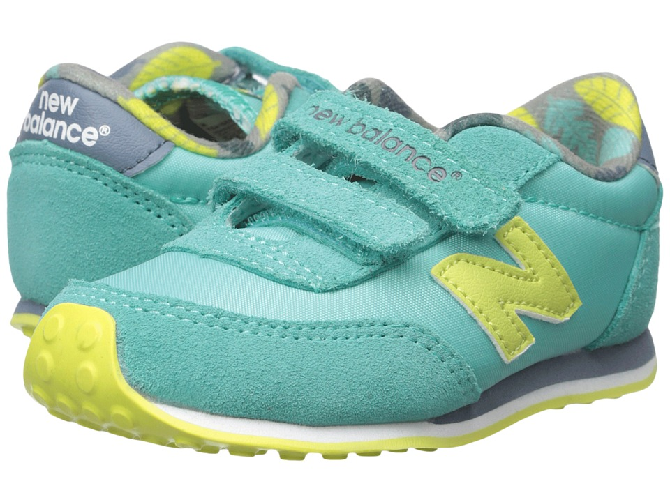 New Balance Kids - 410 (Infant/Toddler) (Aqua/Yellow) Girls Shoes