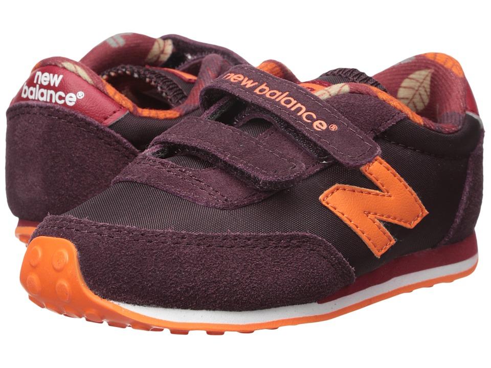 new balance kids velcro. new balance kids 410 (infant/toddler) (burgundy) shoes velcro t