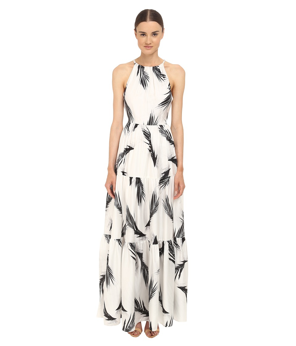 ZAC Zac Posen - Palm Printed Maeve Maxi Dress (Black/White) Women's Dress