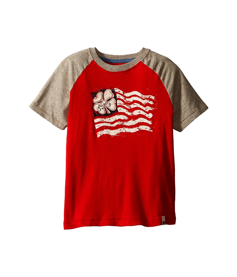 Lucky Brand Kids - Established Tee (Little Kids/Big Kids) (Fiery Red) Boy's Short Sleeve Pullover