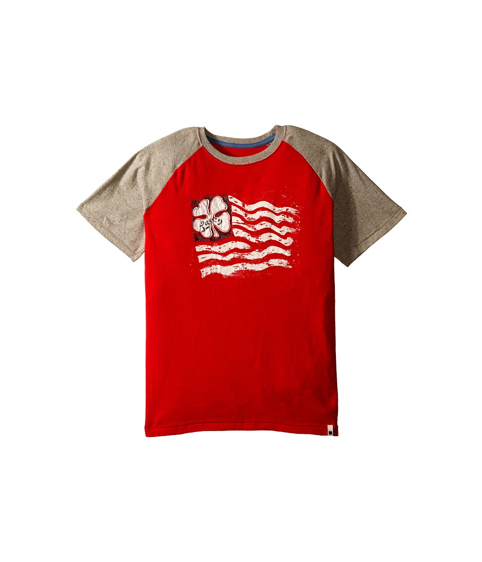 Lucky Brand Kids - Established Tee (Big Kids) (Fiery Red) Boy's Short Sleeve Pullover