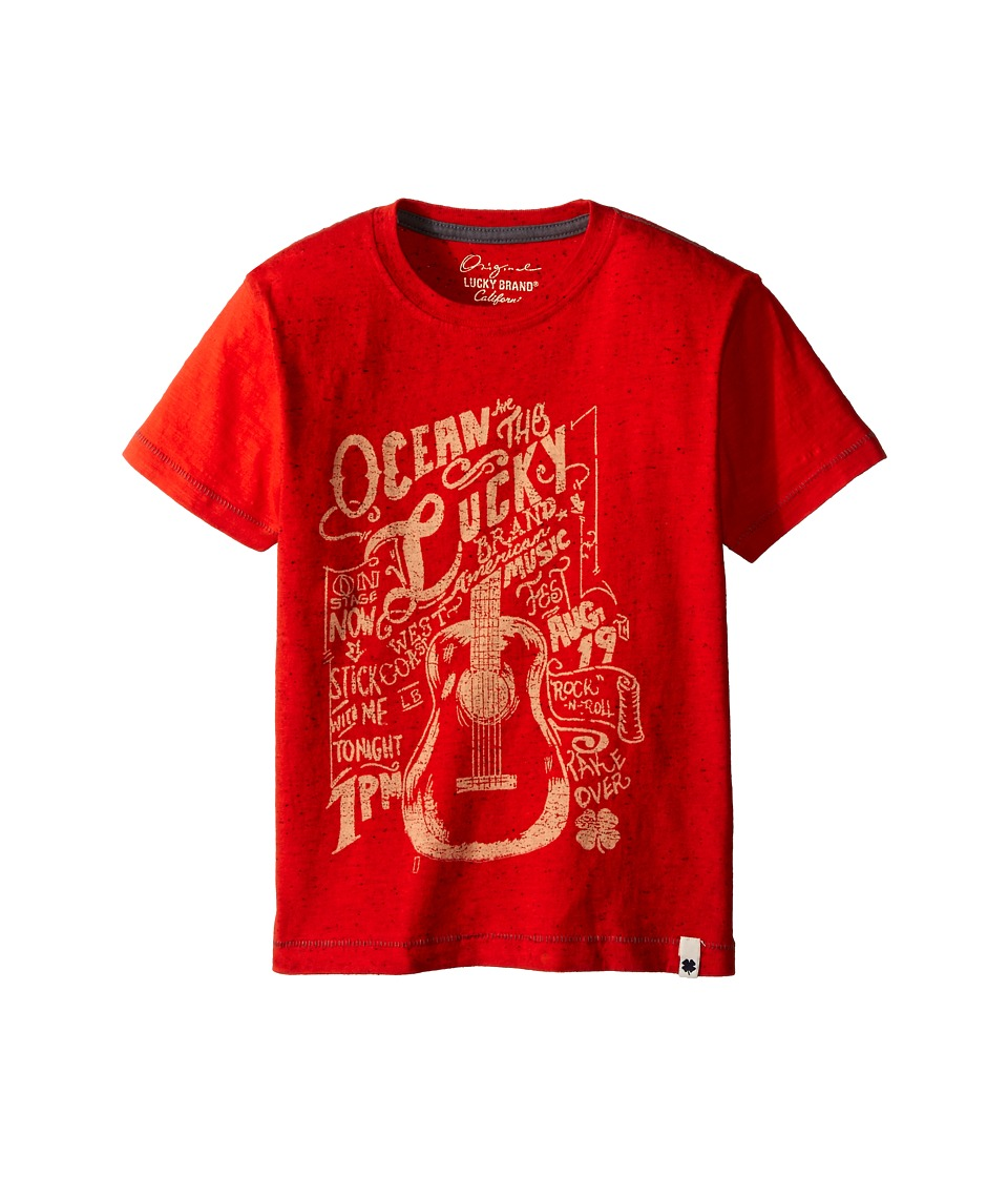 Lucky Brand Kids - Ocean Side Tee (Little Kids/Big Kids) (Fiery Red) Boy's Short Sleeve Pullover