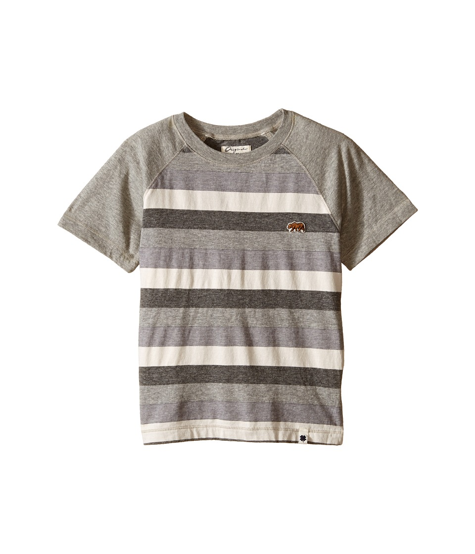 Lucky Brand Kids Bear Raglan Tee (Little Kids/Big Kids) (Heather Light) Boy