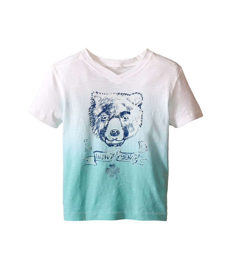 Lucky Brand Kids - Dip Dye Bear Tee (Toddler) (Haze Aqua) Boy's Short Sleeve Pullover