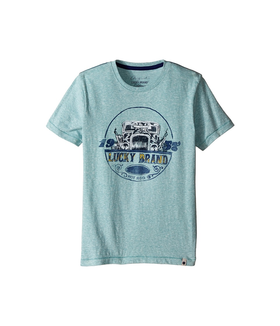Lucky Brand Kids - Fast Lane Tee (Little Kids/Big Kids) (Haze Aqua) Boy's T Shirt