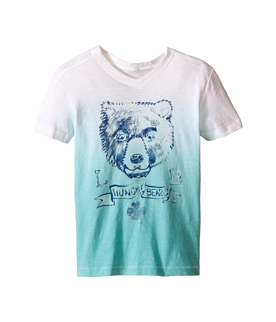 Lucky Brand Kids - Dip Dye Bear Tee (Little Kids/Big Kids) (Haze Aqua) Boy's Short Sleeve Pullover
