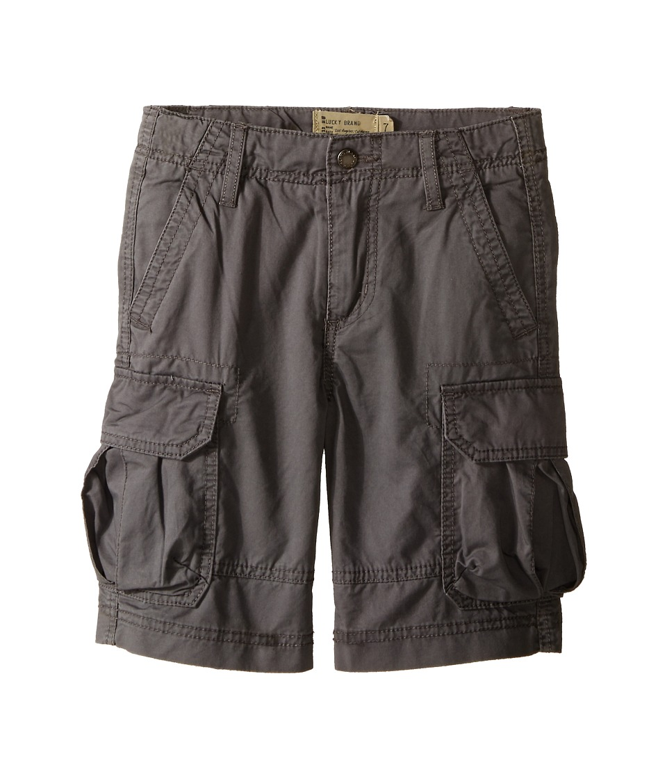 Lucky Brand Kids - Soldier Shorts (Little Kids/Big Kids) (Charcoal) Boy's Shorts