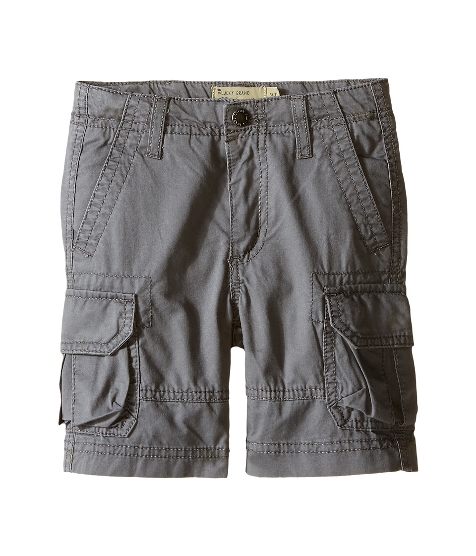 Lucky Brand Kids - Soldier Shorts (Toddler) (Charcoal) Boy's Shorts