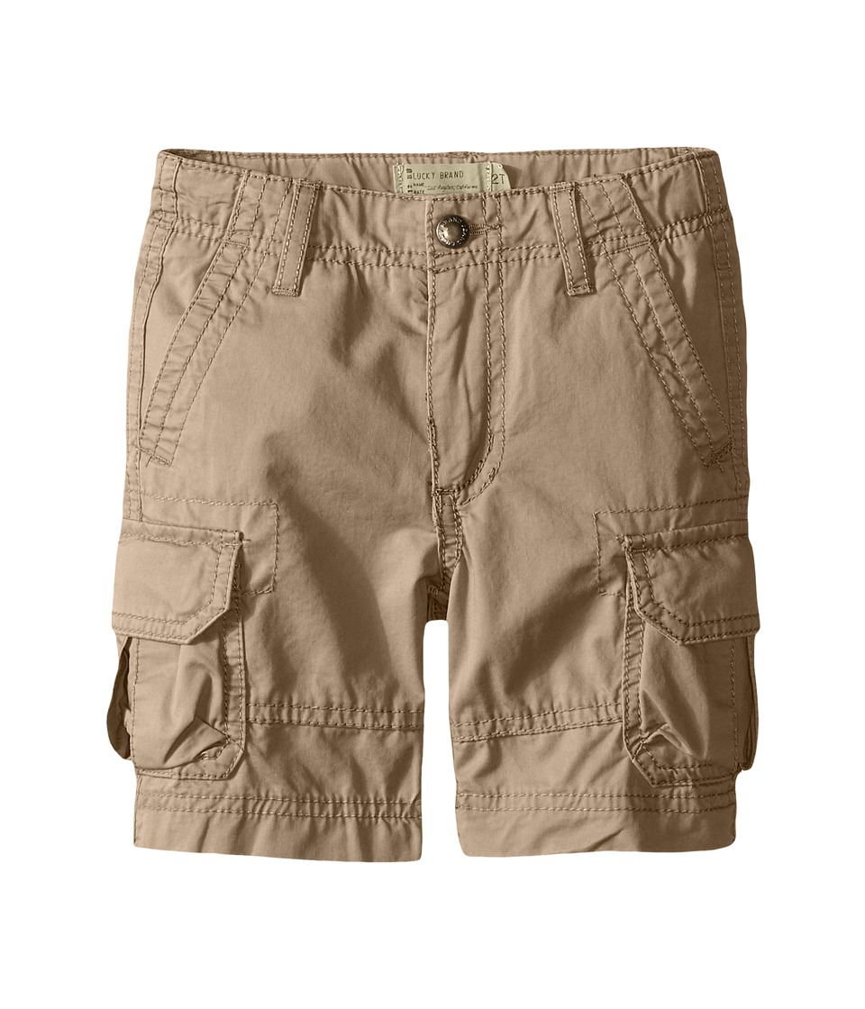 Lucky Brand Kids - Soldier Shorts (Toddler) (Light Khaki) Boy's Shorts