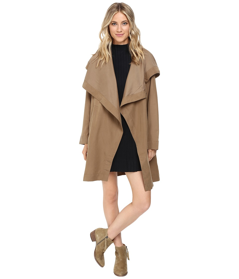 RVCA - Drape Me A River Jacket (Camel) Women's Coat