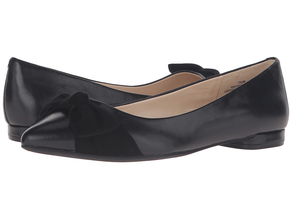 Nine West - Oh Really (Black/Black Leather) Women's Shoes