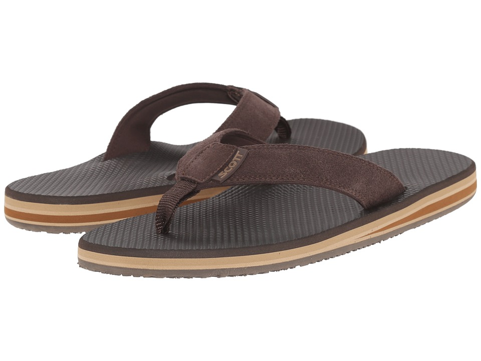 Scott Hawaii - Miloli'i (Brown) Men's Sandals