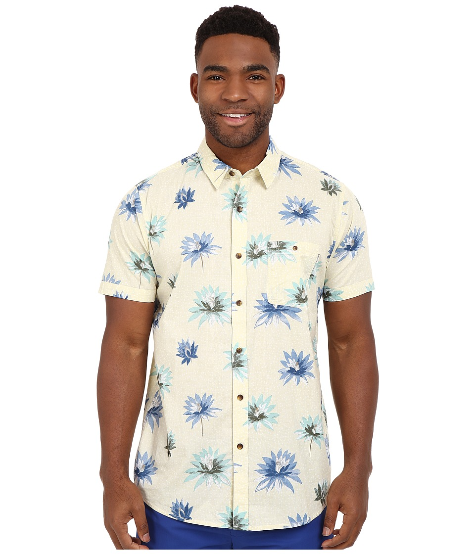 Rip Curl - Glory Short Sleeve Shirt (Off-White) Men's Short Sleeve Button Up