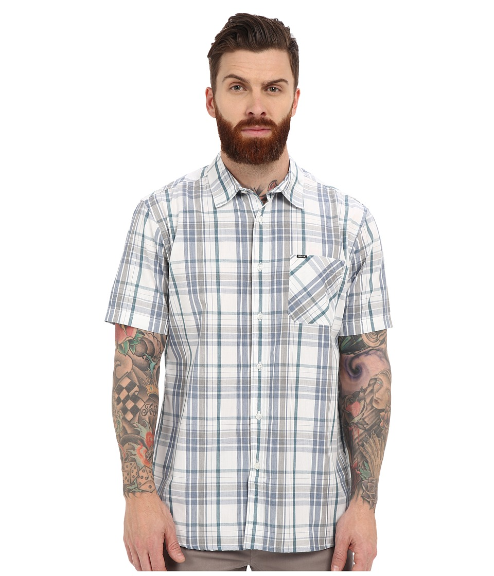 Rip Curl - Floyd Long Sleeve Flannel (White) Men's Clothing