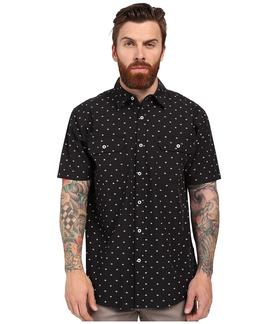 Rip Curl - Genome Short Sleeve Shirt (Black) Men's Clothing