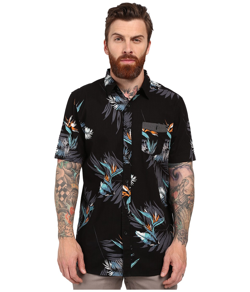 Rip Curl - Paradise Strokes Short Sleeve Shirt (Black) Men's Clothing