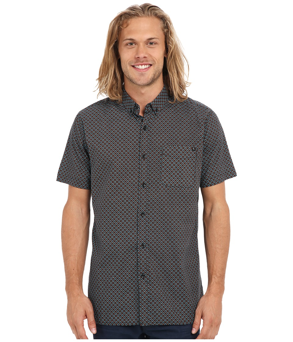 Rip Curl - Everett Short Sleeve Shirt (Black) Men's Short Sleeve Button Up