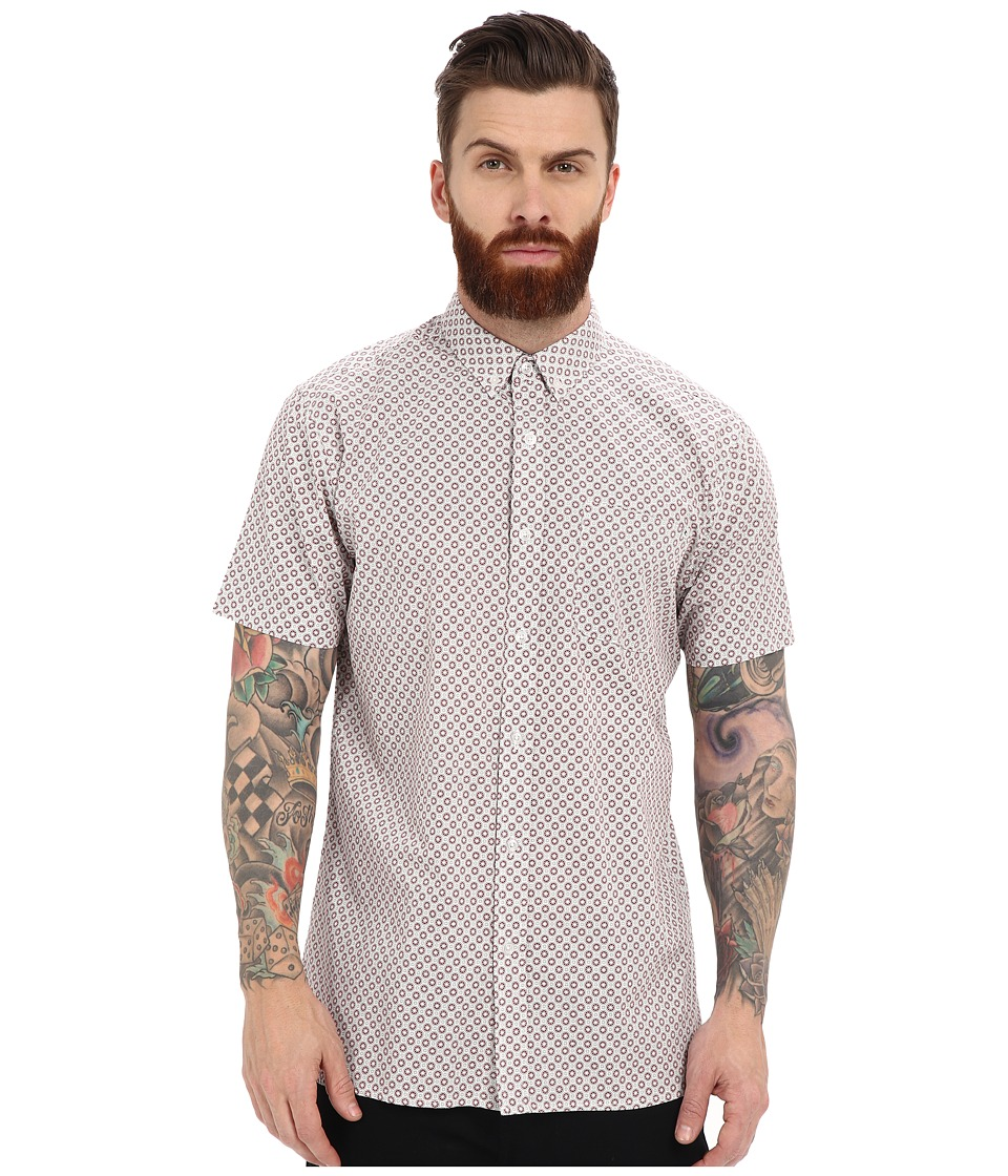 Rip Curl - Everett Short Sleeve Shirt (Off-White) Men's Short Sleeve Button Up