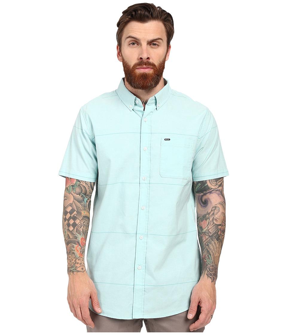Rip Curl - Ourtime Short Sleeve Shirt (Aqua 1) Men's Short Sleeve Button Up