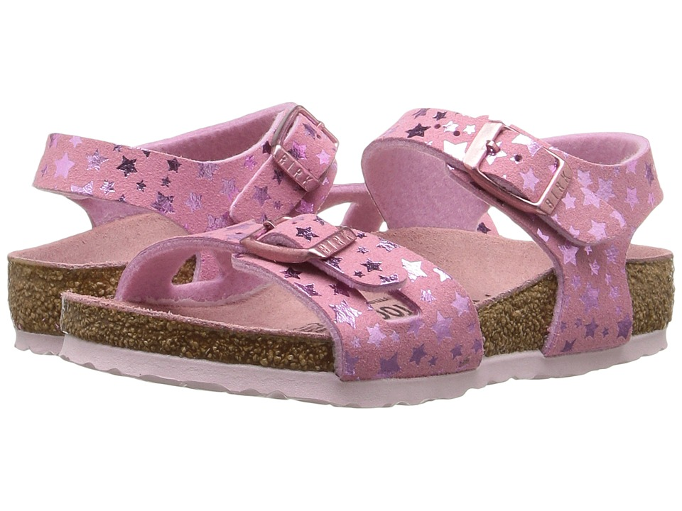 Birkenstock Kids - Rio (Toddler/Little Kid/Big Kid) (Starry Sky Rose Birko-Flor) Girls Shoes
