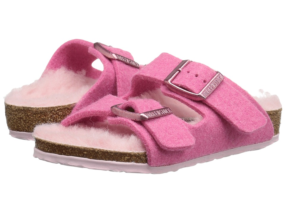Birkenstock Kids - Arizona (Toddler/Little Kid/Big Kid) (Lamb Pink Wool) Girls Shoes