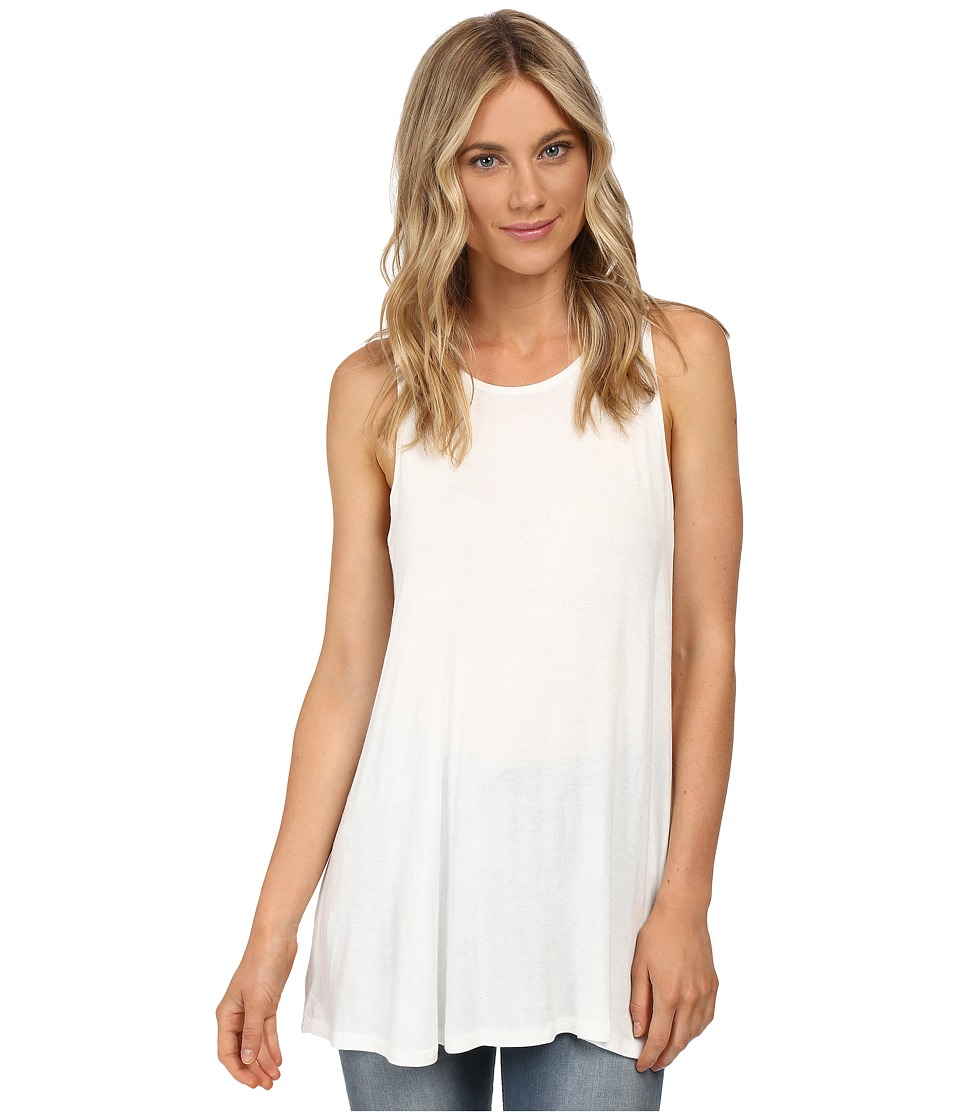RVCA - Label High Neck Tunic Tank Top (Vintage White) Women's Sleeveless
