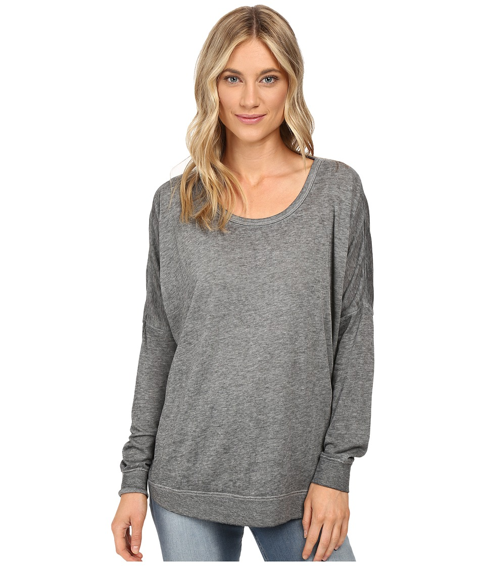 RVCA - Label Dolman Fleece Pullover (Athletic Heather) Women's Fleece