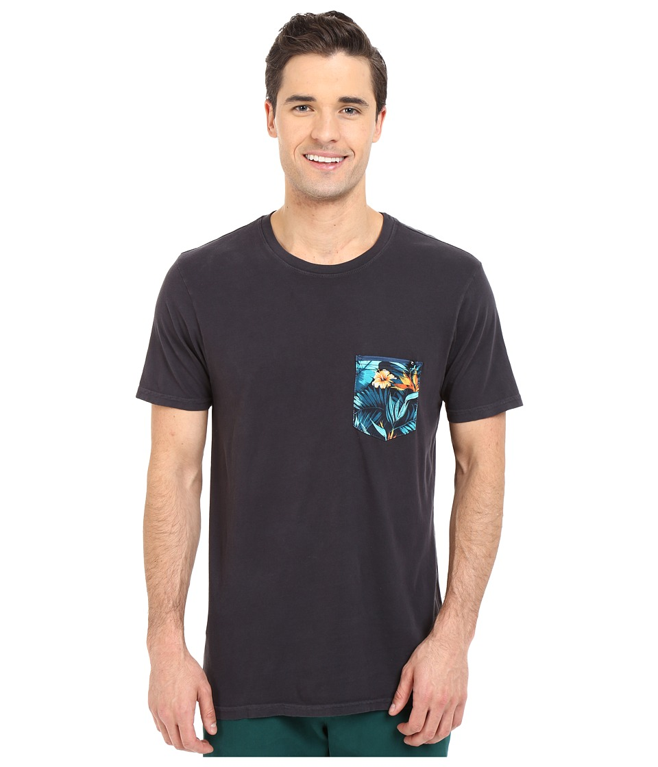 Rip Curl - Glory Custom Pocket Tee (Charcoal) Men's T Shirt