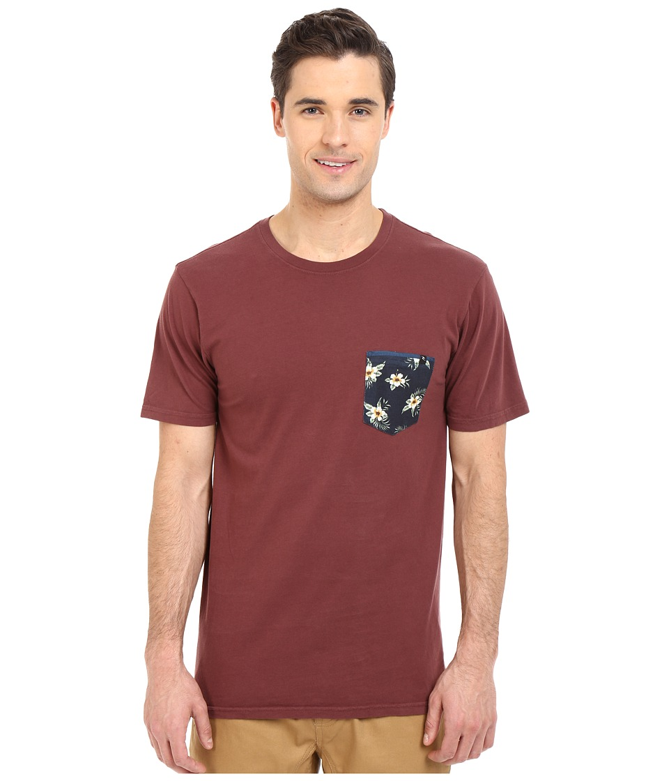 Rip Curl - Glory Custom Pocket Tee (Deep Red) Men's T Shirt