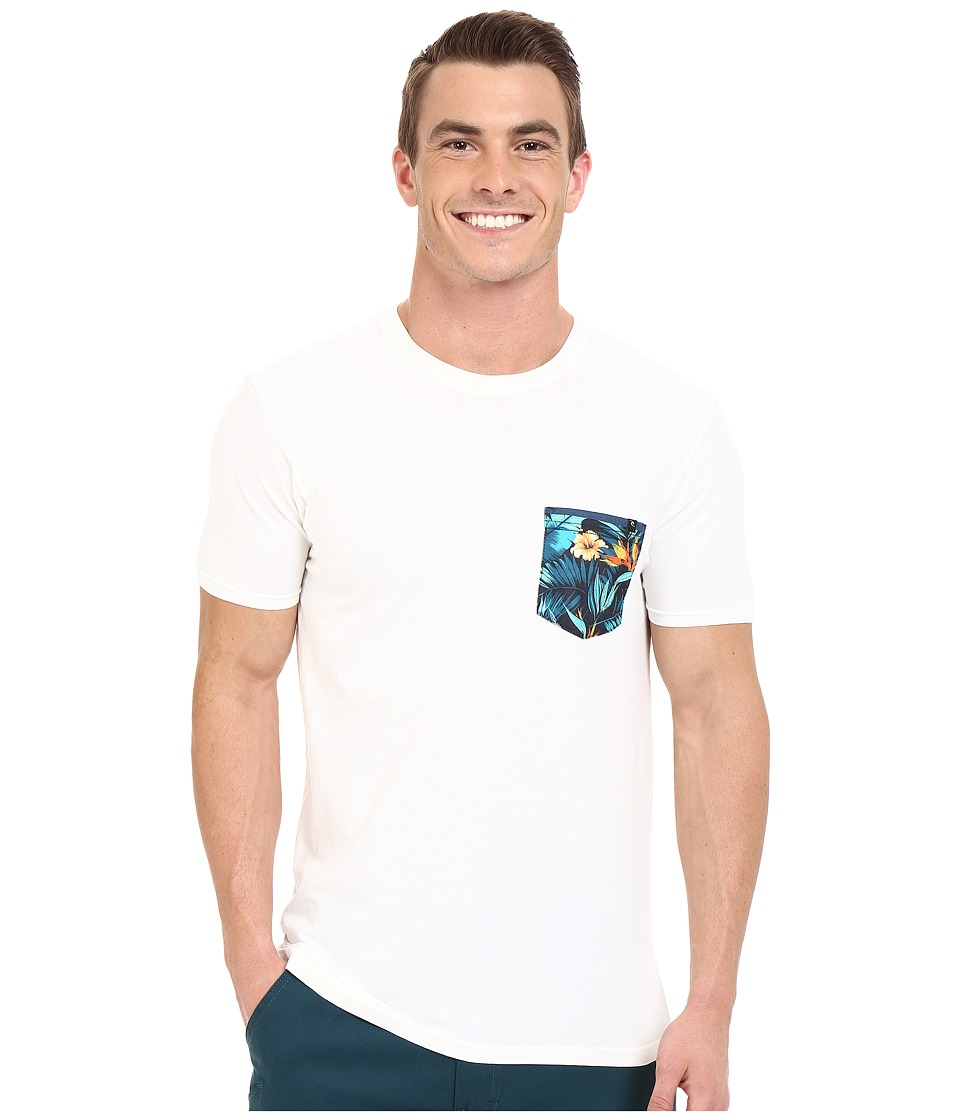 Rip Curl - Glory Custom Pocket Tee (Off-White) Men's T Shirt