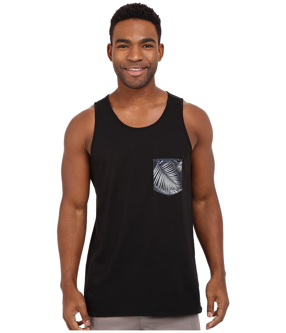 Rip Curl - Glory Custom Pocket Tank Top (Black) Men's Sleeveless