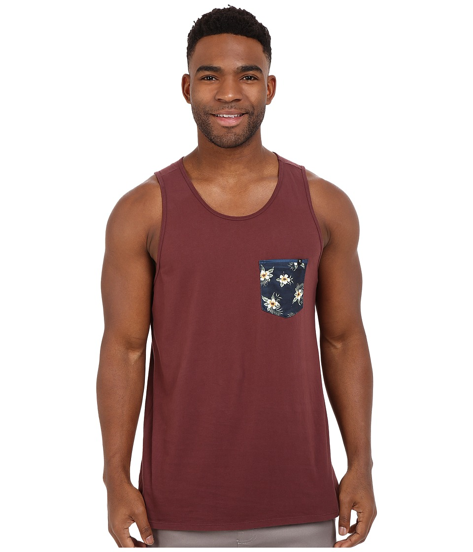 Rip Curl - Glory Custom Pocket Tank Top (Deep Red) Men's Sleeveless