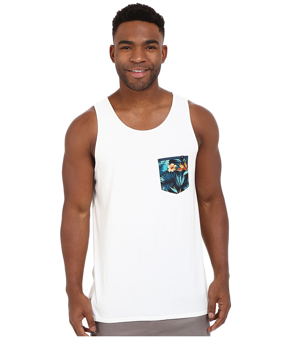 Rip Curl - Glory Custom Pocket Tank Top (Off-White) Men's Sleeveless